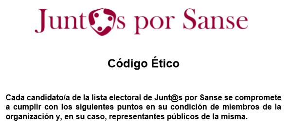 Junt@s por Sanse presenta su CódigoÉtico